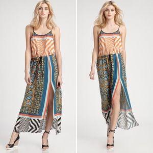 Clover Canyon Tribal Print Crepe Maxi Dress